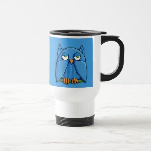 Aqua Owl aqua Travel Mug