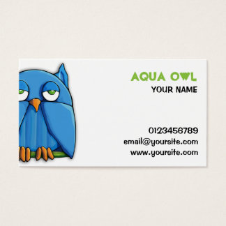 Aqua Owl Business Card