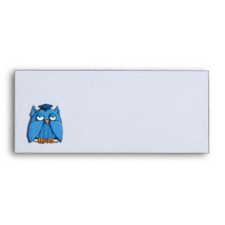 Aqua Owl Grad #10 Envelope zazzle_envelope