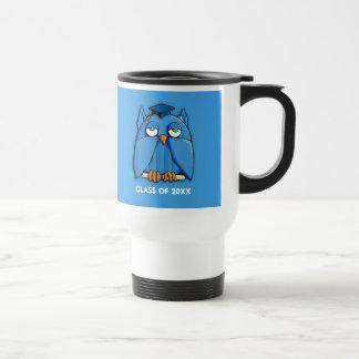 Aqua Owl Grad aqua Travel Mug