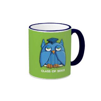Aqua Owl Grad green Mug