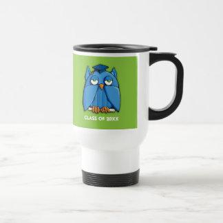 Aqua Owl Grad green Travel Mug
