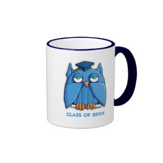 Aqua Owl Grad Mug