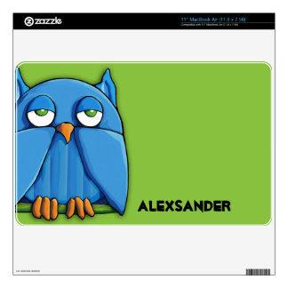 "Aqua Owl green 11"" MacBook Air Skin"