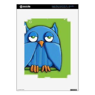 Aqua Owl green iPad 3 Skin