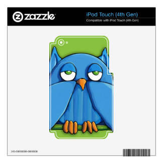 Aqua Owl green iPod Touch (4th Gen) Skin iPod Touch 4G Decal