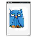 Aqua Owl iPad 3 Skin