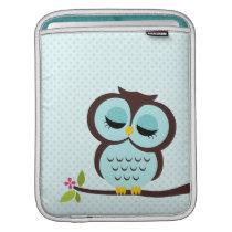 Aqua Owl iPad Sleeve