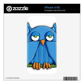 Aqua Owl iPhone 4/4S Skin iPhone 4S Decal