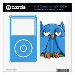 Aqua Owl iPod Classic Skin