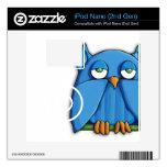 Aqua Owl iPod Nano (2nd Gen) Skin Decal For The iPod Nano