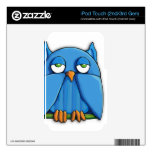 Aqua Owl iPod Touch (2nd/3rd Gen) Skin Skins For iPod Touch 2G