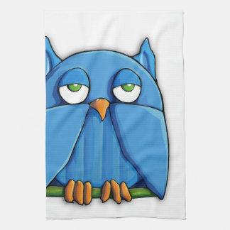 Aqua Owl Kitchen Towel