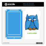Aqua Owl Motorola Droid X2 Motorola Droid X2 Decal
