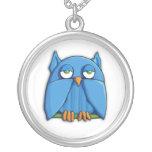 Aqua Owl Necklace