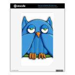 Aqua Owl NOOKcolor Skin Decals For The NOOK Color