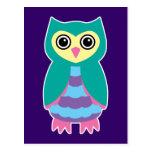 Aqua Owl Postcards