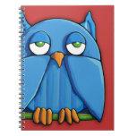 Aqua Owl red 2 Notebook