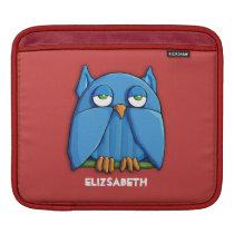 Aqua Owl red iPad Sleeve