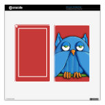 Aqua Owl red Kindle Fire Skin