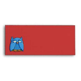 Aqua Owl red Letterhead Envelope