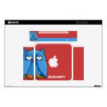 Aqua Owl red Mac mini (Original) Skin Mac Mini Decals