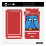 Aqua Owl red Motorola Droid X2 Motorola Droid X2 Decal