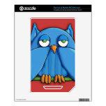 Aqua Owl red NOOKcolor Skin Decals For The NOOK Color