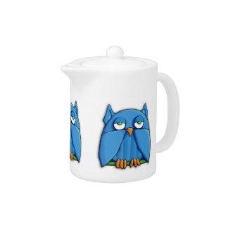 Aqua Owl Teapot