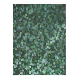 Aqua Painted Glitter Shimmer Card