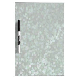 Aqua Painted Glitter Shimmer Dry Erase Board