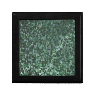 Aqua Painted Glitter Shimmer Jewelry Box