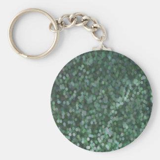 Aqua Painted Glitter Shimmer Keychain