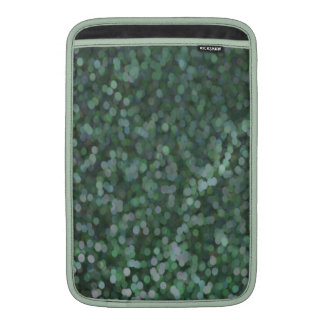 Aqua Painted Glitter Shimmer Sleeve For MacBook Air