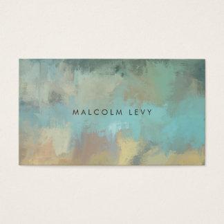 Aqua Painting Textured Distress Business Cards