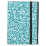 Aqua Paisley Pattern iPad Folio Cases