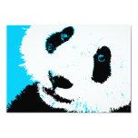 aqua panda 3.5x5 paper invitation card