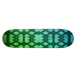 Aqua Pattern SKateboard Deck