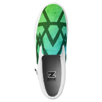 Aqua pattern ZIPZ Slip on shoes