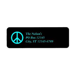 Aqua Peace Symbol, The Nelson'sPO Box 12345City... Label