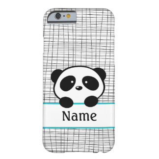 Aqua Personalized Panda Barely There iPhone 6 Case