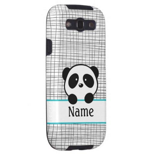 Aqua Personalized Panda Samsung Galaxy SIII Cover