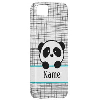 Aqua Personalized Panda iPhone 5 Cases