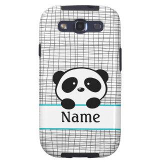 Aqua Personalized Panda Galaxy S3 Case