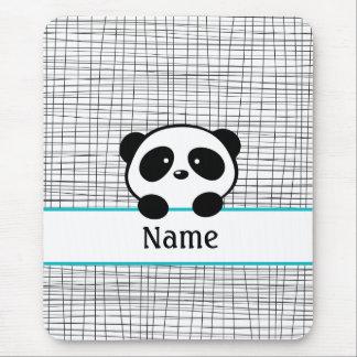 Aqua Personalized Panda Mouse Pad