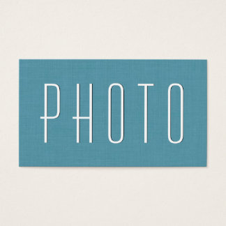 Aqua PHOTOGRAPHER Simple Style V24 Business Card