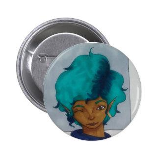 Aqua Pinback Button