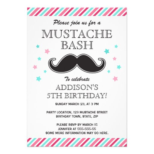 Mustache Party Invitations can inspire you to create best invitation template