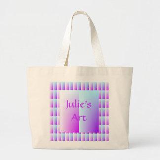 Aqua Pink Pastels Jumbo Tote Bag