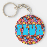 Aqua PLUR Candy Key Chains